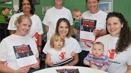 St Albans Mums group raised money for Save the Children Syria Appeal and MOAS Front L-R Kathy Ede, G