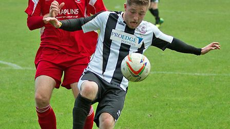 Ben Seymour-Shove returns from suspension for St Ives Town. Picture: LOUISE THOMPSON