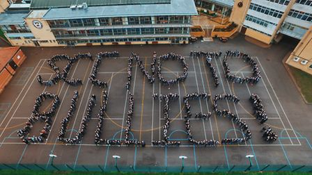 Anti–bullying week at St Columba's College in St Albans. Photo courtesy of Will Harford/CloudVisual