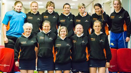 St Albans' ladies came fifth in the England Super Sixes indoor tournament at Nottingham. Picture: CH