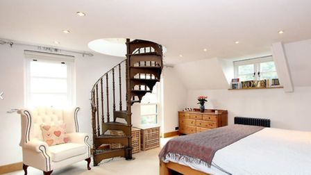 Gallows Hill - with its spiral staircases from the master bedroom to further accommodation upstairs