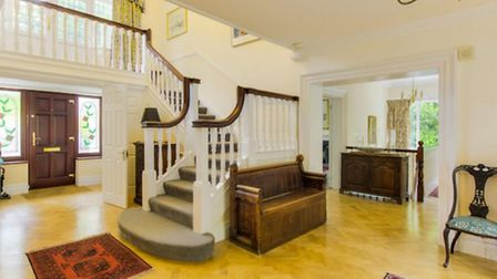 On entering, the splendid hall features a turning staircase leading on to a galleried landing at The