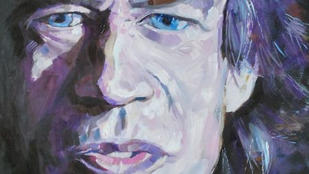 Royston artist Mike Dobson is exhibiting his work at Royston Museum. Mick Jagger