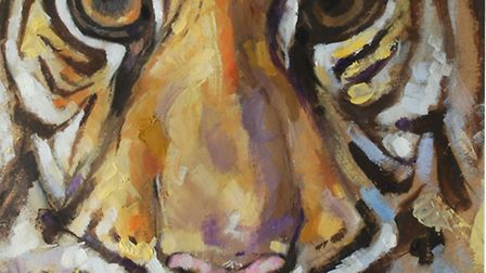 Royston artist Mike Dobson is exhibiting his work at Royston Museum.