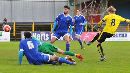George Byers sees his shot saved