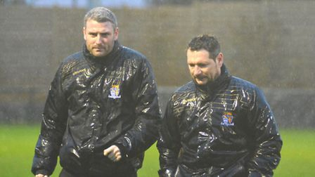 David Batch (right) has resigned as St Neots Town manager, but believes number two Steve Eastaugh (l
