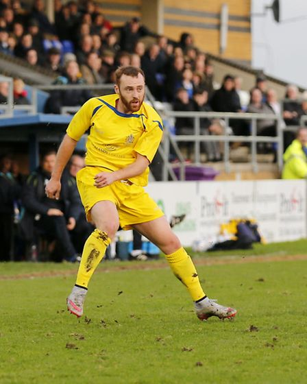 Harry Crawford scored twice to spare St Albans' blushes against Hadley. Picture: LEIGH PAGE