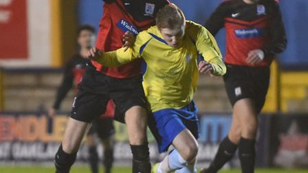 Jack Green is put under pressure by the Hadley defence. Picture: BOB WALKLEY