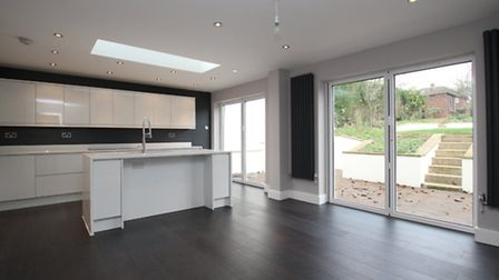 The kitchen at Netherway - spacious and bright