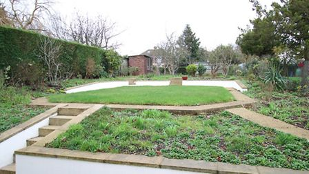 The rear garden of the property