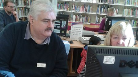 Royston Job Club sessions are held at the town's library every month