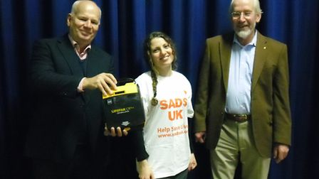 Skyswood Primary School received its defibrillator from UK Charity SADS as part of its Big Shock cam