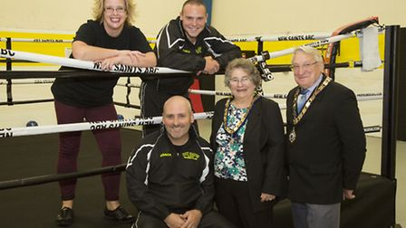 Mayor of St Neots, Councillor James Corley and mayors consort Georgina Corley are pictured with the