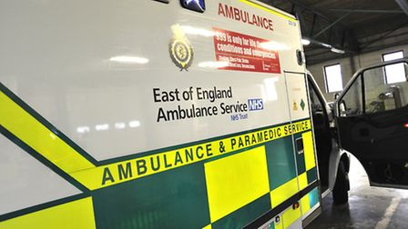 The woman in her 80s was taken to hospital.