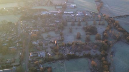 Adrian took this snap of Bassingbourn from his Balloon.