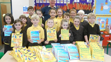 St Dominic Roman Catholic Primary School received donations to buy up to 90 new reference books for