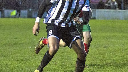 Andrew Phillips hit the only goal for St Ives Town. Picture: LOUISE THOMPSON
