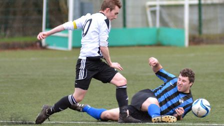 Josh Smith hit a hat-trick for Buckden in their victory against St Ives Rangers. Picture: HELEN DRAK