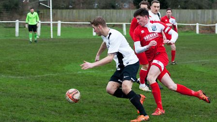 Captain Taylor Parr was among the goalscorers for Godmanchester Rovers in their win at Swaffham. Pic