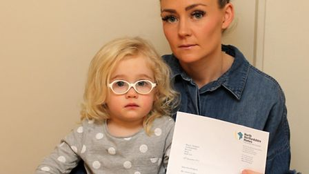 North Herts District Council wants to move single mother Lauren Hodgson and daughter, Bella-Rose, ou