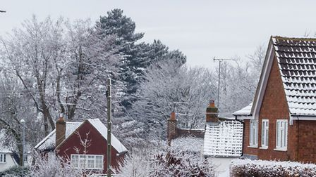 Harpenden in the snow