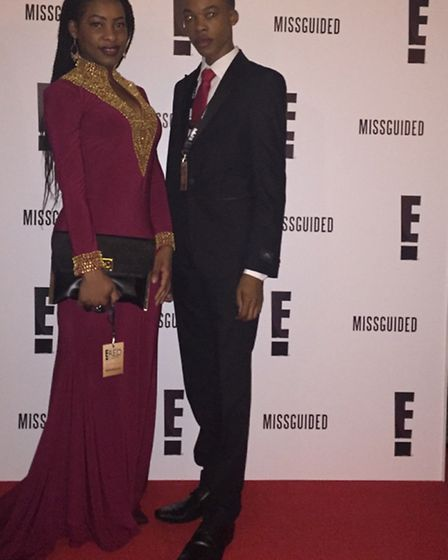 Dylan Musanhu and his sister, Tricia, attended the Golden Globes 'watch along party' hosted by E!