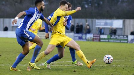 Louie Theophanous levelled against Bishop's Stortford. Picture: LEIGH PAGE