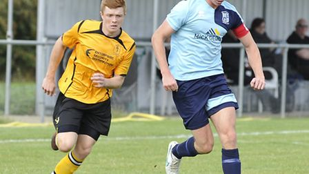Captain Taylor Parr scored for Godmanchester Rovers.