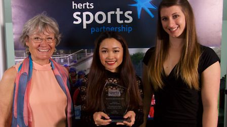 Chelzea Taygu was presented with the Nadine Mehta Award by Nadine's mother Maggie and Jess Hall, of
