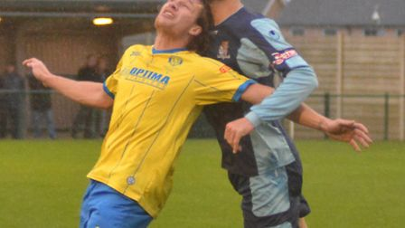 Mat Mitchel-King was sent off during St Neots Town's defeat at Chesham.