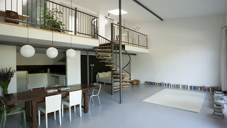 Mezzanine chic - a more industrial style, incorporating metals rather than woods. Picture: PA Photo/
