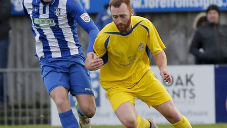 Harry Crawford gets behind the Stortford defense on Boxing Day. Picture: LEIGH PAGE