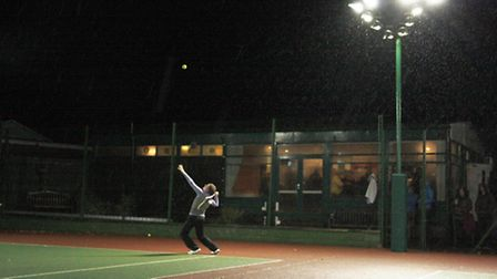 New floodlights installed at St Neots Lawn Tennis Club following a number of grants