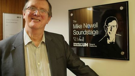 BAFTA award winning director Mike Newell, of St Albans, at the Mike Newell Soundstage, University of