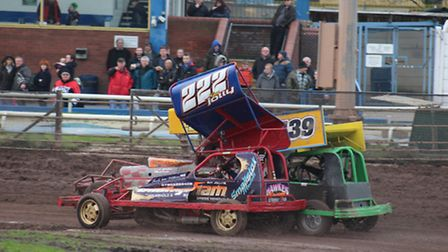 Huntingdon racer Guy Jolly won the Belle Vue Christmas Meeting in Manchester. Picture: AMY DUCKETT