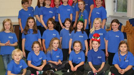 Junior members of the Riverside Theatre Company in St Neots