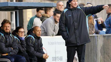 Caretaker Harry Wheeler directing his troops. Picture: LEIGH PAGE
