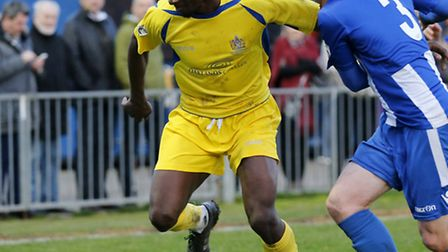 Eddie Oshodi put Saints in front at half-time. Picture: LEIGH PAGE