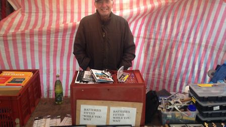 Julian Lanosberg has been trading at St Albans market for 50 years