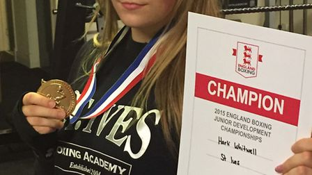 St Ives Boxing Academy talent Harli Whitwell won two national titles.