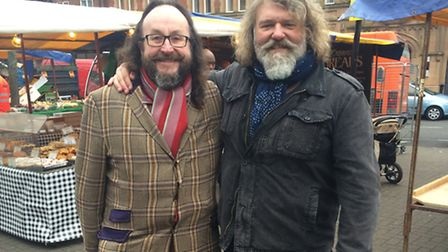 The Hairy Bikers, David Myers & Si King, surprised shoppers at this week's market