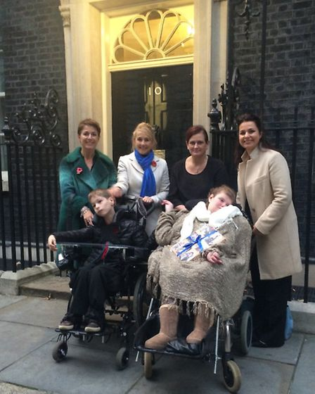 Campaign group Save Meldreth Manor take their petition to No.10 Downing Street before the school is