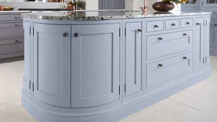 Langton kitchen, painted in Serenity by Pantone ( PA Photo/Handout)