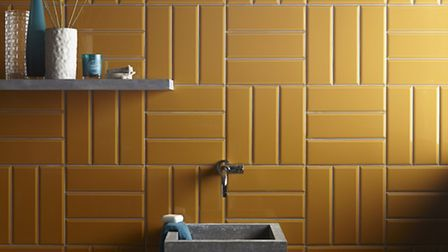 Diamante Ocre tiles, available from Topps Tiles (PA Photo/Handout)