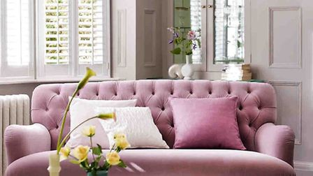 Bailey Velvet Maxi Sofa in dusty pink, from DFS (PA Photo/Handout)