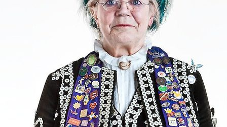 Margaret Oliver, the Pearly Queen of Redbridge.