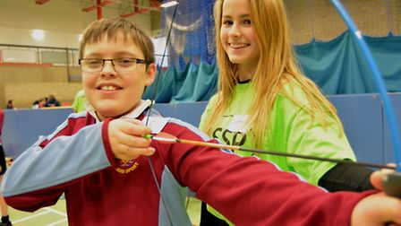 Hunts School Sports Partnership, inclusion sports day, at the Ivo Centre, Alfie, from St Ivo school,