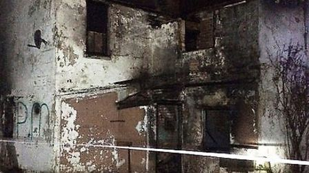 A derelict house was set alight in Haddon.
