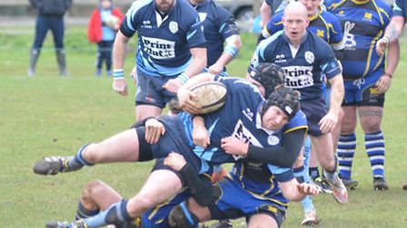 Action from St Ives' crucial derby victory at St Neots. Picture: HELEN DRAKE