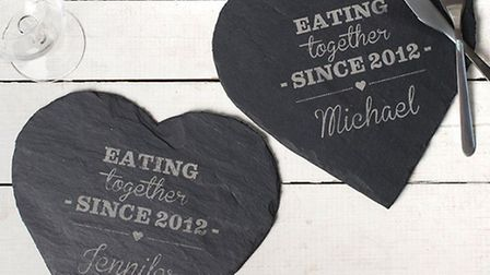 Engraved Set Of Slate Placemats | Gettingpersonal.co.uk - £34.99
